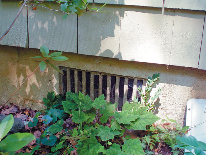 design or sealed crawl space vents - Foundation Vent Covers