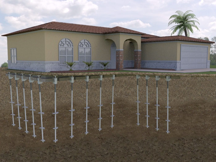 Foundation Push Piers In Southern California Los Angeles